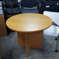 "Honey Maple 36"" Round Meeting Table"