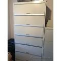 "TAB Datafile Beige 6 Drawer Flip Front Storage Cabinet 78"" Lock"