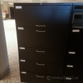 Global Black 5 Drawer Lateral With Chrome Handles