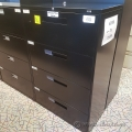 Black Global 4 Drawer Lateral File Cabinet