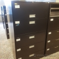 Black Prosource 5 Drawer Lateral File Cabinet