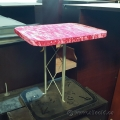 Retail Display 2 Tower Truss w/ Pink Velvet Covering