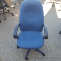 Blue Executive High Back Rolling Task Chair, Arms