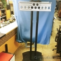 "Black 72"" Tall Floor Stand Dual TV Mount Base"