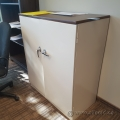Beige 2 Door Metal Locking Storage Cabinet