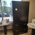 "72"" Gunnar Black 2 Door 2 Drawer Storage Cabinet"