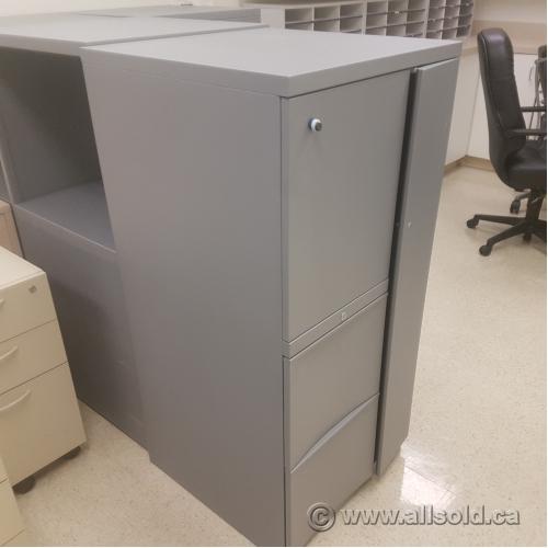 Grey Teknion Wardrobe Storage Cabinet W Box Box File Allsold Ca