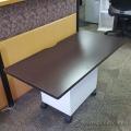 "Espresso Wood 48"" x 24"" Desk Surface"