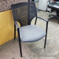 Teknion Grey Pattern Fabric Mesh Back Guest Chair