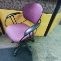 Steelcase Uno Burgundy Adjustable Suspended Meeting Chair