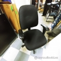 Black Rolling Task Chair w/ Padded Arms