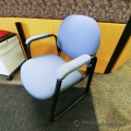 Blue Guest Chair w/ Padded Fabric Arms