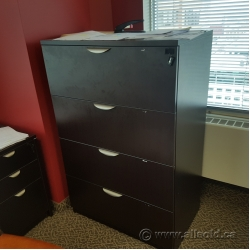 Espresso 4 Drawer Lateral File Cabinet, Locking