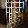 White Plastic Tubular Storage Rack Shelving