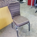 Brown Pattern Fabric High Back Stacking Chair