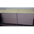 Blonde 2 Drawer Wooden Rolling Lateral File Cabinet