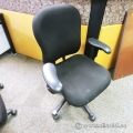 Black Adjustable Office Task Chair w/ Rubber Arms