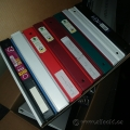 "Box of Bakers Dozen Binders 1"" - 2"" Inch, Various Colours"