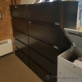 Artopex Black 5 Drawer Lateral File Cabinet, Locking