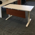 "White Teknion Work Tables 60"" x 24"""