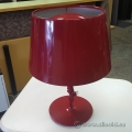 Red Metal Shade Kulla 3 Level Illumination Desk Lamp