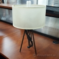 Tri Post Desk Lamp Beige Shade