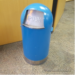 Blue Steel Flip Front Garbage Can