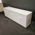 "Teknion White 6 Door Credenza 83.5"" x 20"""