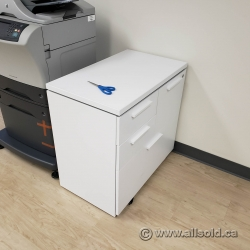 White Combination Lateral File Cabinet with 2 Box and Top File