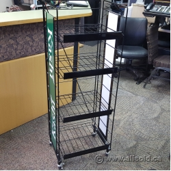 Black Retail Collapsible Folding Wire Display Rack
