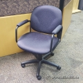 Dark Wine Pattern Task Chair w/ Padded Arms