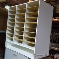 White Wood Frame In/Out Mail Sorter