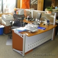 Mid Tone L Suite Desk with Printer Stand and Storage Pedestal