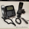Black Panasonic KX-TG4771C Office Phone Set