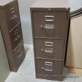 Brown Hon 3 Drawer Vertical Storage Cabinet
