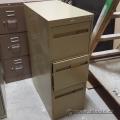 Cole Beige 3 Drawer Vertical File Cabinet