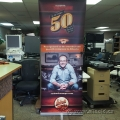 "Exhibit Studio Deluxe Trade Show Display Banner w Case 84"" x 32"""
