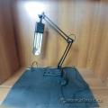 Black Adjustable Florescent Desk Lamp w/ Storage Tray Base