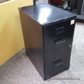 Black 2 Drawer Box Box File Storage Pedestal