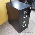Black 2 Drawer File Storage Pedestal with Silver Handles