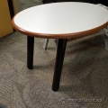 Oval Cherry Trim Rolling Table