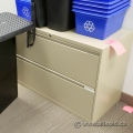 Beige 2 Drawer Lateral File Storage Cabinet