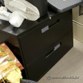 Black Global 2 Drawer Lateral File Storage Cabinet