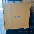 Ikea 2 Door Storage Cabinet (Honey)