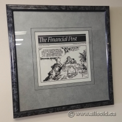 The Financial Post Political Cartoon March 9, 1994 w/ Frame