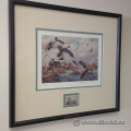 Harry C. Adamson Ducks Unlimited 1989 Lithograph and Stamp