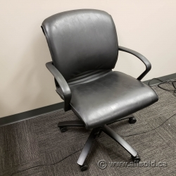 Teknion Mid Back Leather Task Chair