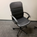 Leather Office Task Chair w/ Fixed Arms