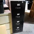 Black 4 Drawer Hon Vertical File Cabinet