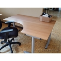 IKEA Galant Blonde Modular Open Style L Suite Desk w Grey Legs